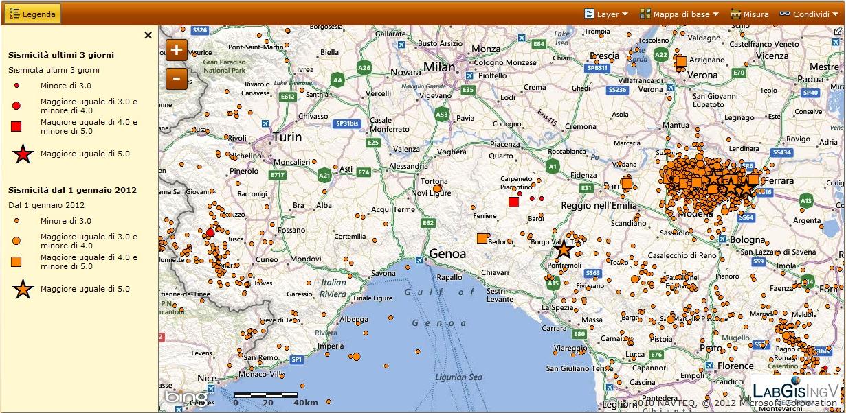 Terremoto in provincia di piacenza m4 5 3 ottobre ore 16 for Arredamenti piacenza e provincia