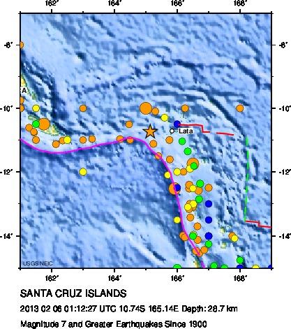 la mappa dei terremoti forti dal 1900