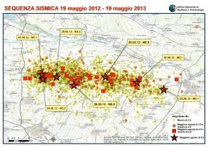 Terremoti in Pianura Padana Emiliana dal 19 maggio 2012 al 19 maggio maggio 2013