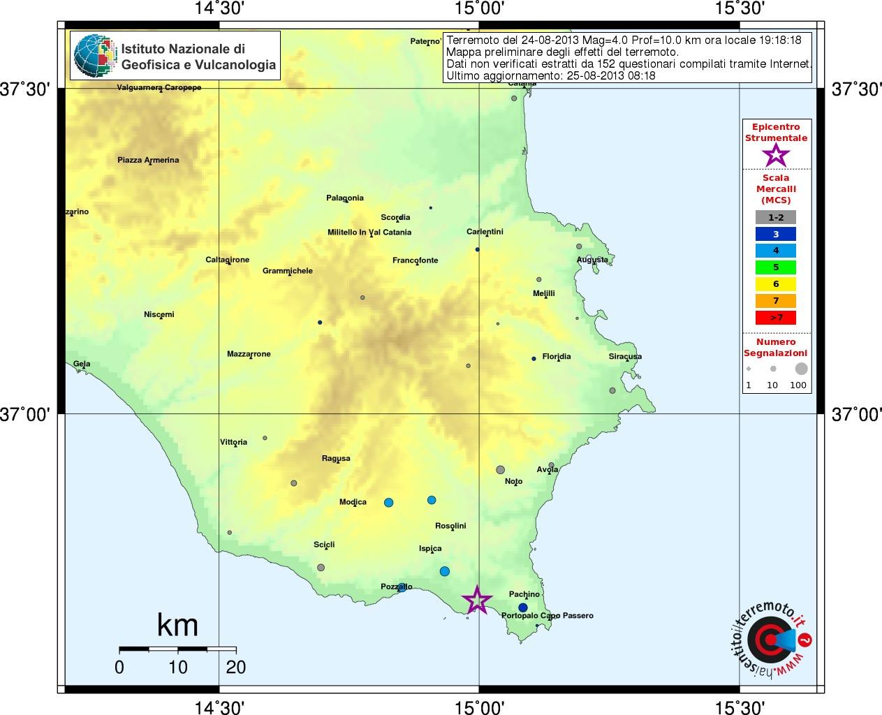 Evento sismico in sicilia sud orientale ingvterremoti mappa thecheapjerseys Image collections