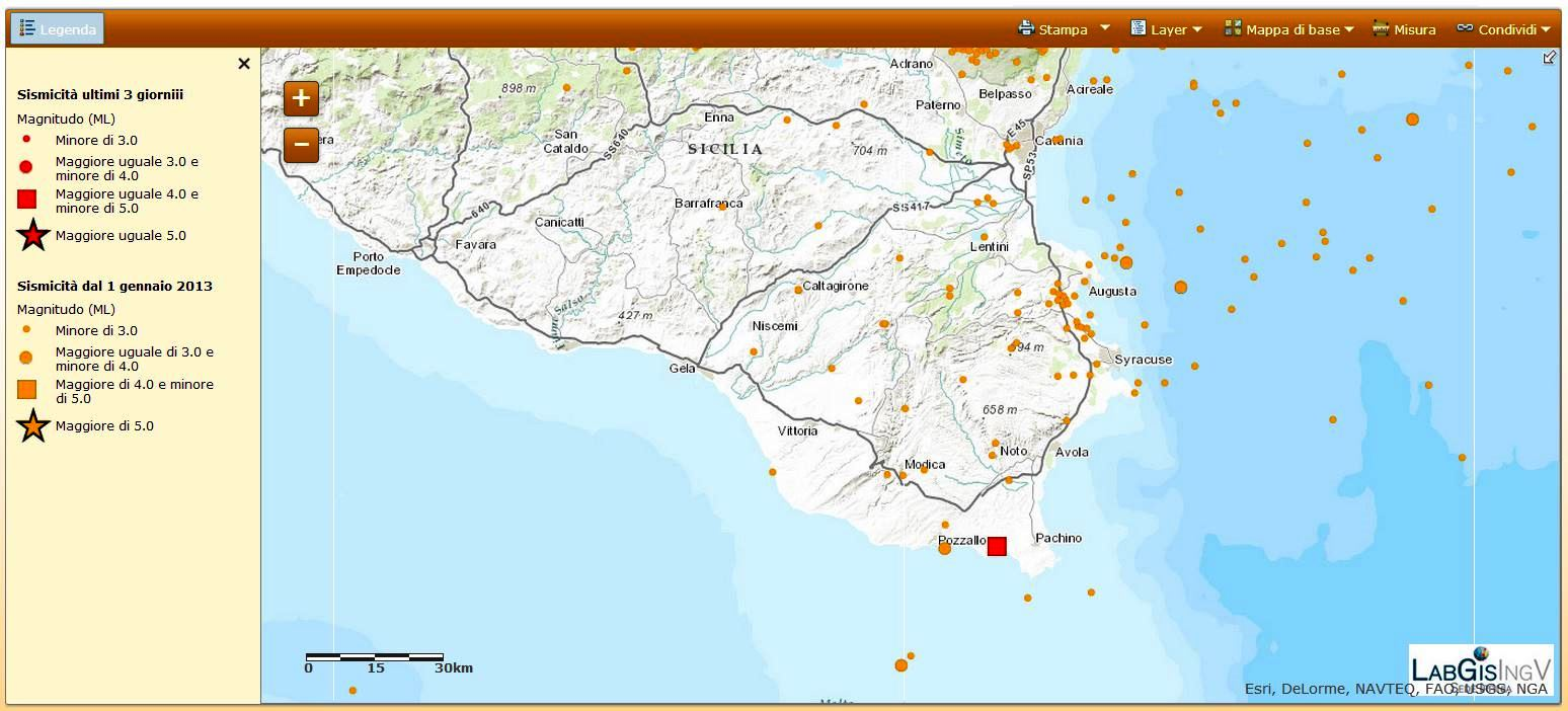Evento sismico in sicilia sud orientale ingvterremoti il quadrato rosso rappresenta la localizzazione evento ml 40 delle 1918 altavistaventures Image collections