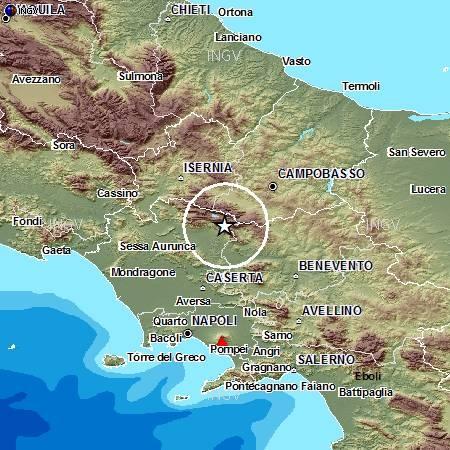 Terremoto tra Caserta e Benevento