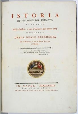Michele Sarconi: frontespizio del volume pubblicato nel 1784