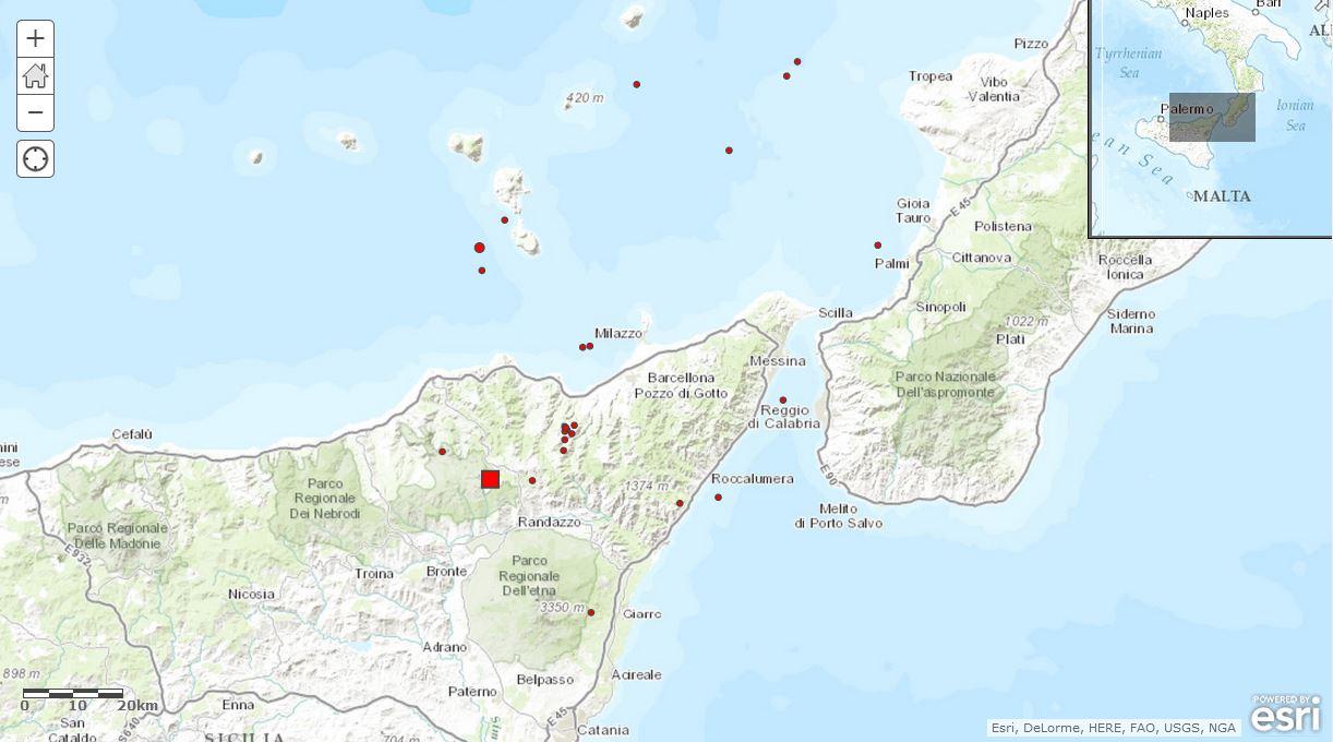 Terremoto messina ingvterremoti for Volantino despar messina e provincia