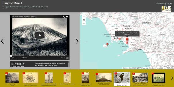 """Clicca per visualizzare la story map """"I luoghi di Mercalli"""""""