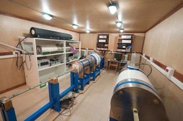 La stanza magneticamente schermata del laboratorio di paleomagnetismo dell'INGV, dove sono state effettuate tutte le misure e le analisi sulle proprietà magnetiche dei sedimenti
