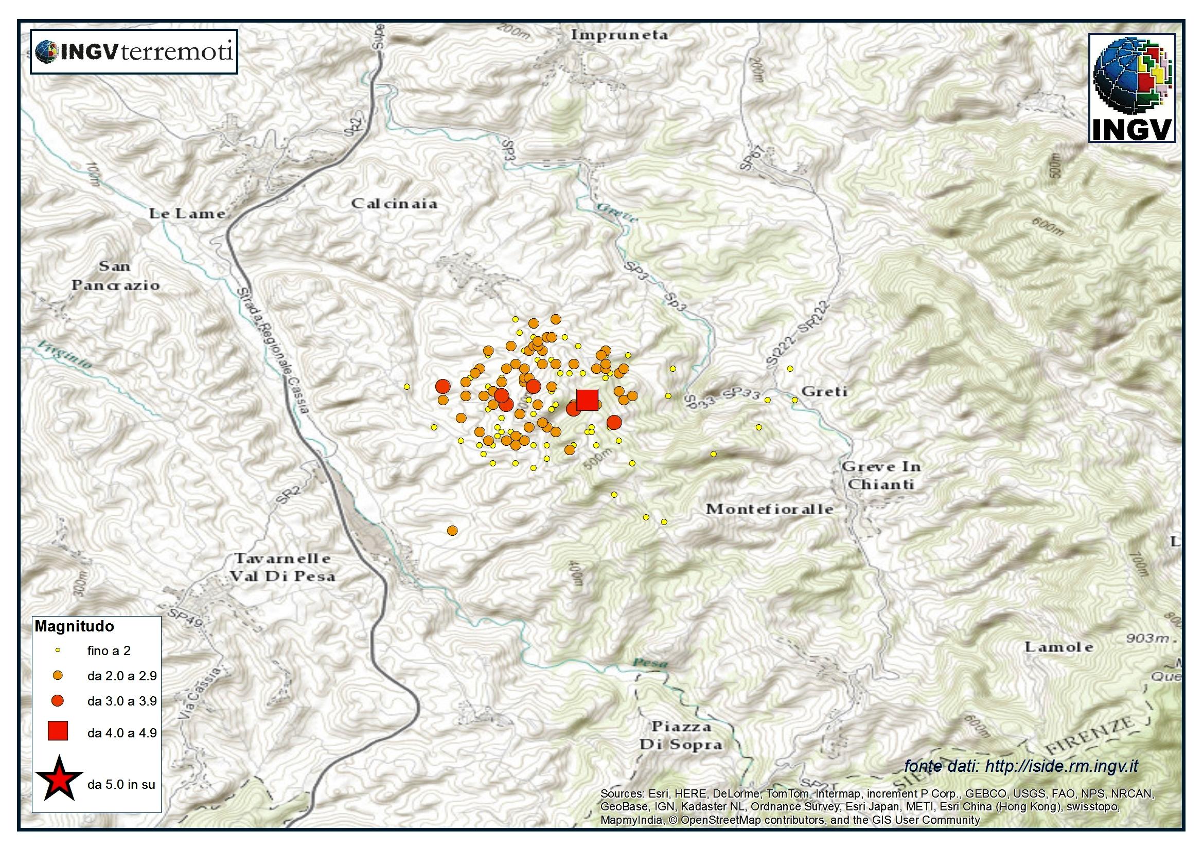 Terremoti in provincia di firenze aggiornamento e for Ingv lista terremoti di oggi