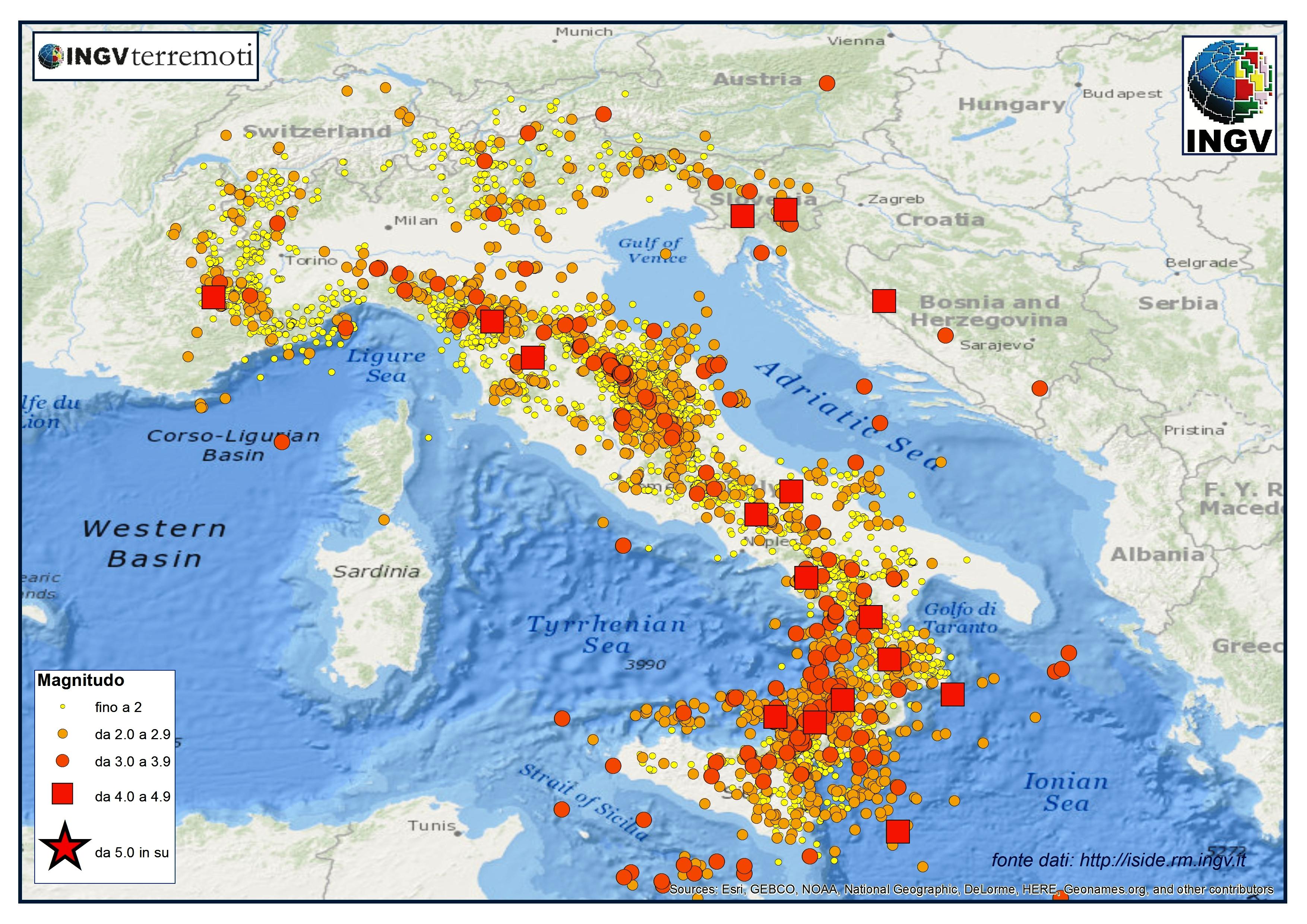 Cartina Dell Italia Zone Sismiche.6aprile Itspeciale Ingv Italia Sismica I Terremoti Del 2014 6aprile It