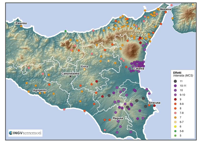 I terremoti nella storia il catastrofico terremoto dell11 gennaio distribuzione degli effetti del terremoto dell 11 gennaio 1693 secondo guidoboni et al thecheapjerseys Images