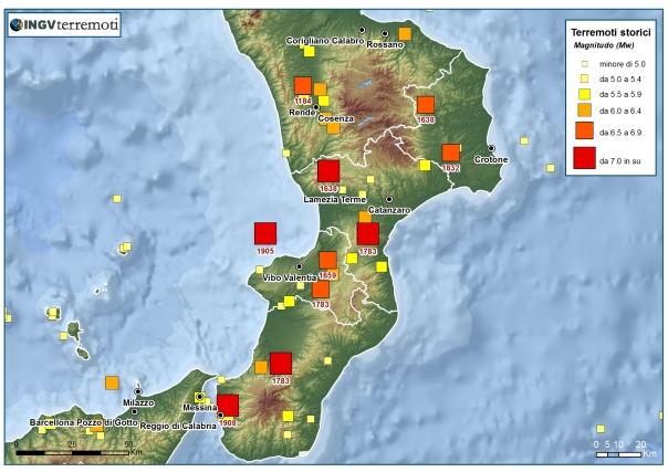 terremoti in calabria CPTI11