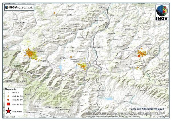 La sismicità nell'Appennino