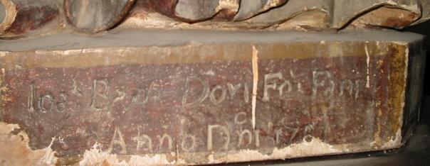 Anno Domini 1781: questa scritta incisa sul basamento di una statua di s. Emidio (protettore contro il terremoto) attesta chiaramente la preoccupazione destata dagli eventi sismici di quell'anno in una comunità delle Marche settentrionali.