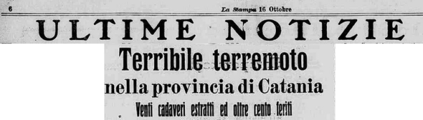 Figura 6. La notizia del terremoto sul giornale La Stampa del giorno successivo.