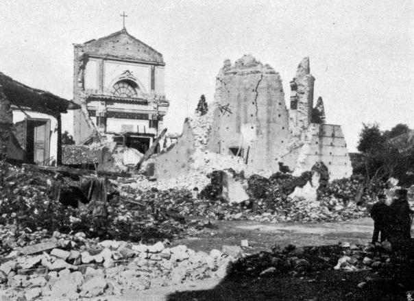 Reggio Calabria: rovine della chiesa di San Francesco da Paola.