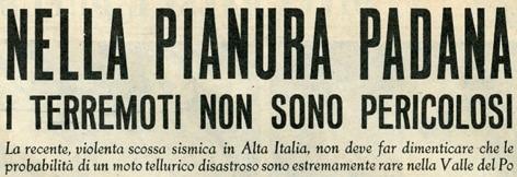 """Figura 3 – Il titolo dell'intervista al prof. Orlando Vecchia pubblicata dal settimanale """"Oggi"""" del 24 maggio 1951."""