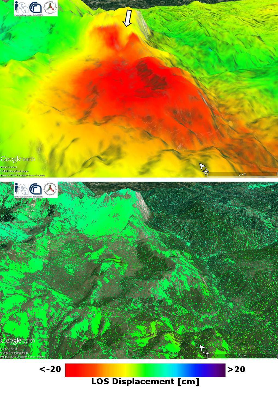 Terremoto in Italia centrale: Misure dello spostamento del suolo tramite interferometria satellitare