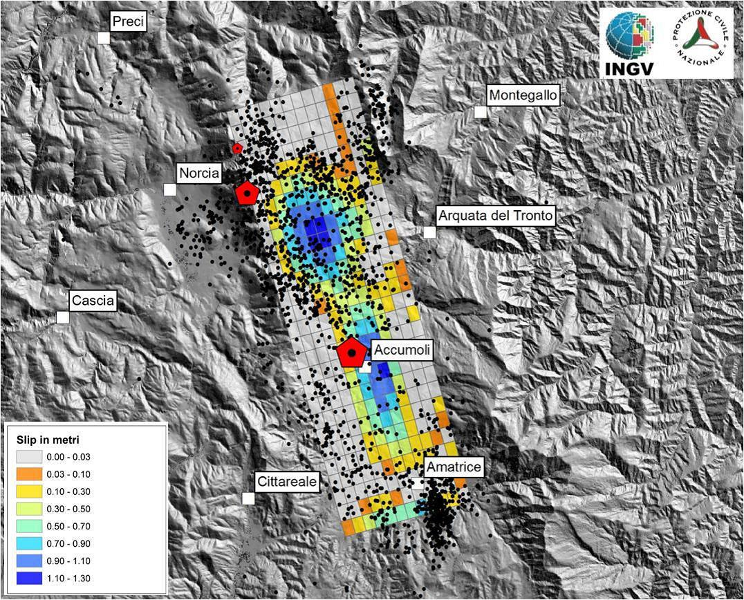 Terremoto in Italia centrale: Modellazione della sorgente sismica e trasferimento di stress sulle faglie limitrofe