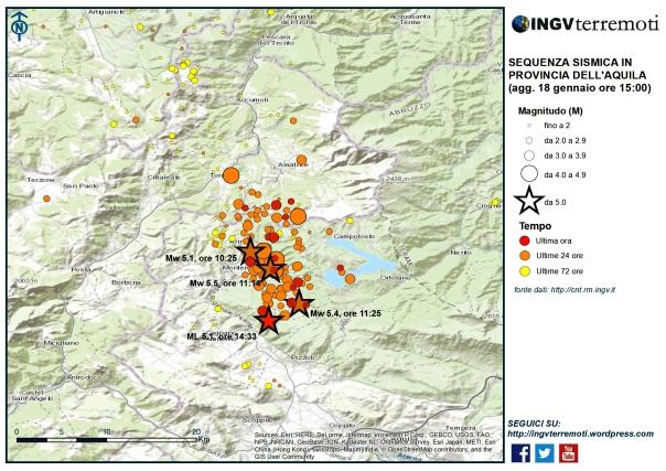 Terremoto Centro Italia: rapporto di aggiornamento dell'INGV