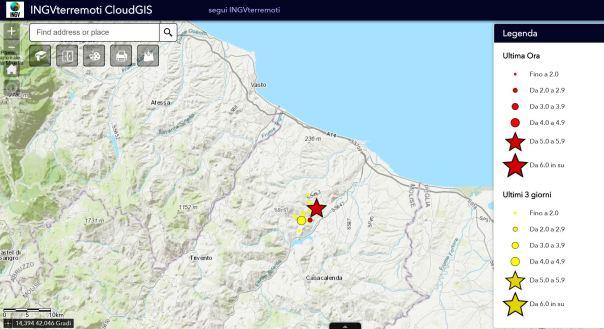 Terremoto in Molise, DATI e MAPPE INGV: scossa avvertita in