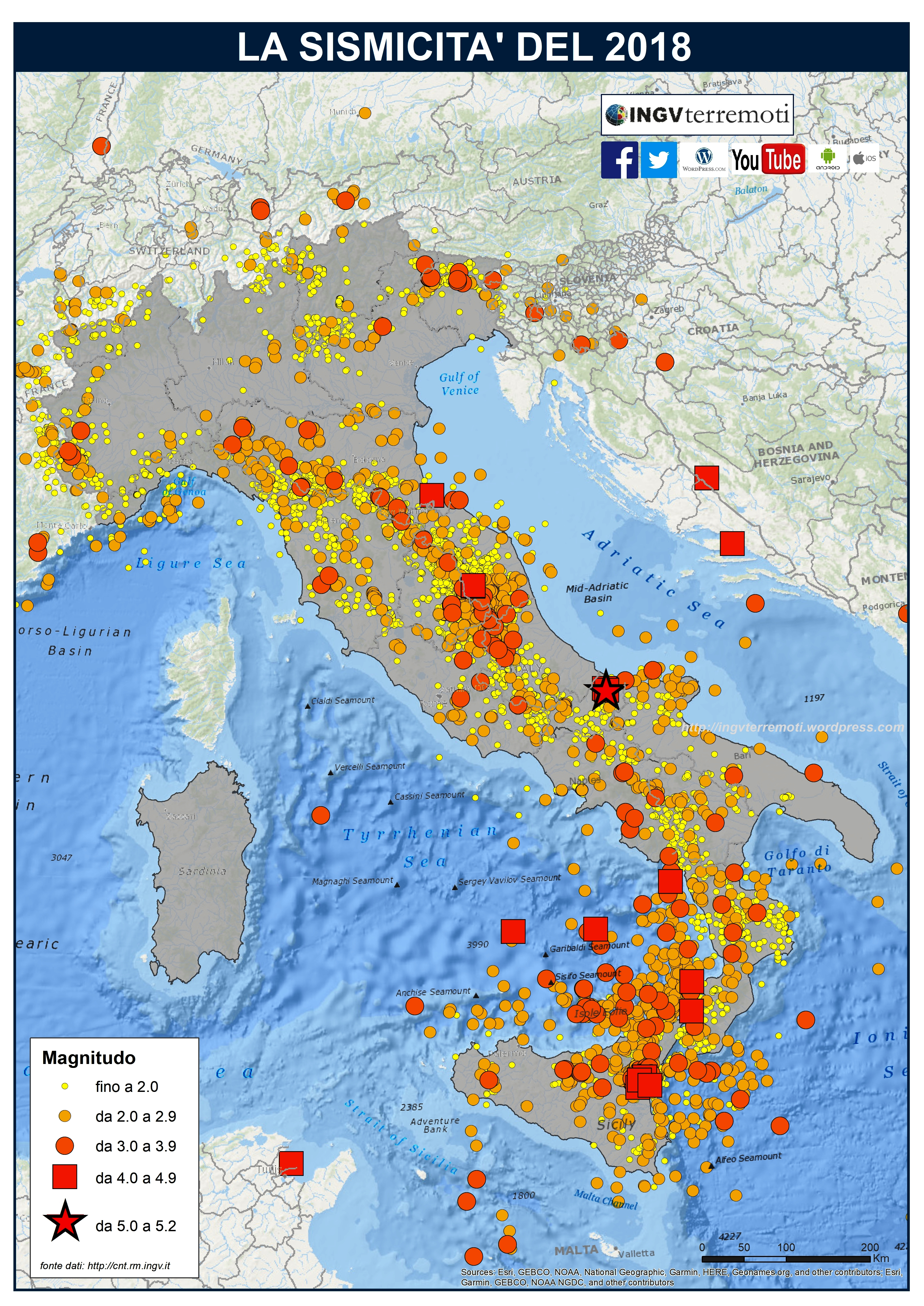 Cartina Italia Terremoti.Mappe